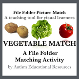 Autism File Folder Picture Match - Vegetables