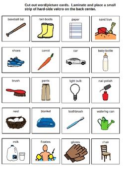 Autism File Folder for What Goes Together for Special Education