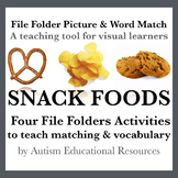 Four Autism File Folder Activities - Picture & Word Match,