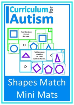 Shapes Read Match Math Center Autism Special Education