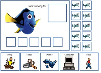 Autism:  Finding Dory Token Boards