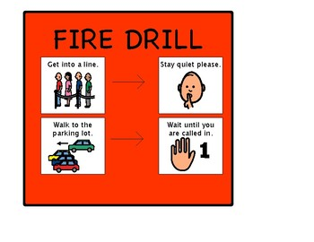 Autism Fire Drill Visual
