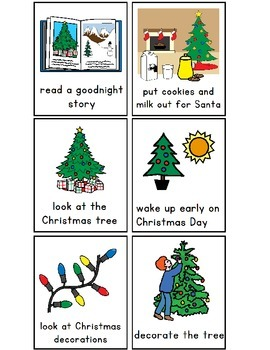 Autism First/Then Visual Boards for CHRISTMAS