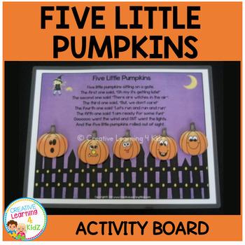 Five Little Pumpkins Activity Board