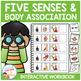 Five Senses & Body Association Interactive Workbook Speech Autism