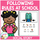 Social Story Following Rules at School Book Autism