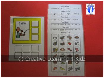 Food Cards + I Want Board 144 PECS