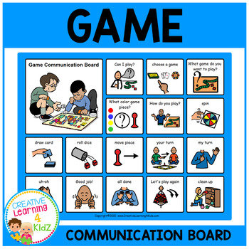 Game Communication Board Visual PECS