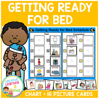 Getting Ready for Bed Visual PECS Schedule Autism