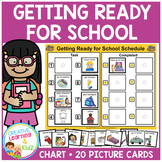 Getting Ready for School Visual PECS Schedule Autism