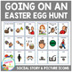 Social Story Going on an Easter Egg Hunt + 18 PECS cards Visuals Autism