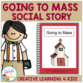 Social Story Going to Mass Book + PECS Autism
