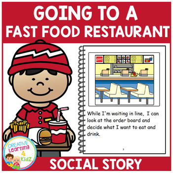 Social Story Going to a Fast Food Restaurant Book Autism