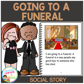 Social Story Going to a Funeral Book Autism