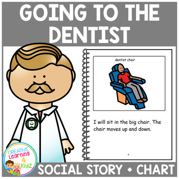 Social Story Going to the Dentist Book & Brushing Teeth Chart Autism