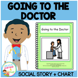 Social Story Going to the Doctor Book & Medical Board/ Chart PECS Autism
