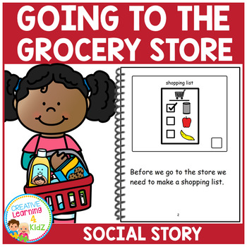 Social Story Going to the Grocery Store Book Autism