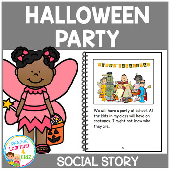 Social Story Halloween Party Book Autism