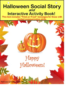 Autism: Autism Halloween Social Story & Interactive Activity Book