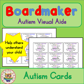 Autism Handout Cards - Visual Aids for Autism SPED