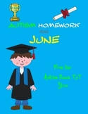 Autism Homework for June (From Autism Reach Tpt Store)