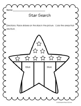 Autism Homework for November (From Autism Reach TpT Store)