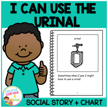 Social Story I Can Use the Urinal Book + Charts Potty Training Autism