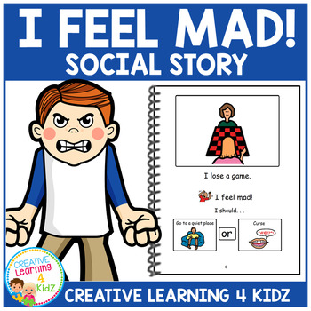 Social Story I Feel Mad! Book Story Autism