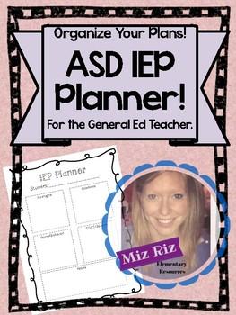Autism IEP Planner