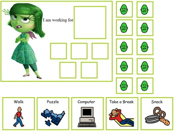 Autism:  Inside Out Token Boards