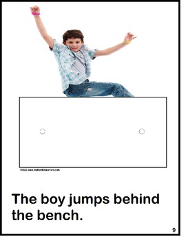 Autism Interactive Activity Book for Positional Words {Special Education}