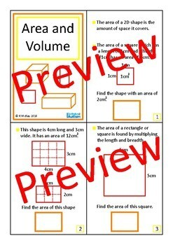 Shapes Area Perimeter Interactive Geometry Books Autism Special Education