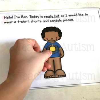 Autism Adapted Book, Dressing Children