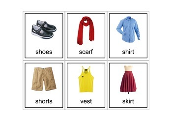 Autism Intervention - Clothing Flash Cards - high resolution