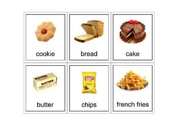 Autism Intervention - Food Flash Cards - high resolution