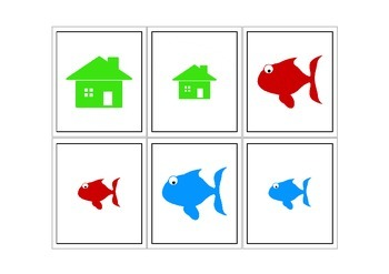 Autism Intervention - Modifier & Object Flash Cards - Big & Small