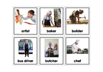 Autism Intervention - Occupations Flash Cards - high resolution