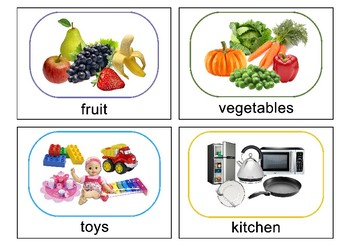 Autism Intervention - Sorting Categories Flash Cards - high resolution