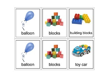 Autism Intervention - Toys Flash Cards - high resolution