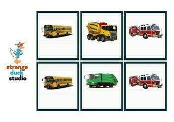 Autism Intervention - Transport Flash Cards - high resolution