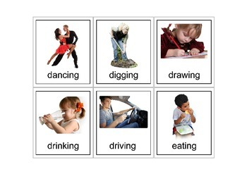 Autism Intervention - Verb Flash Cards - high resolution