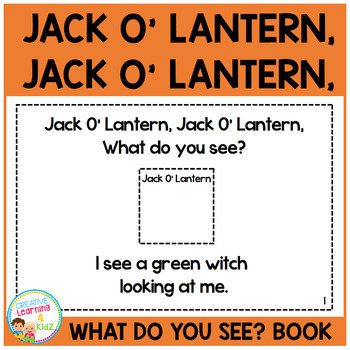 Halloween Jack O' Lantern, Jack O' Lantern, What do you see? Cut & Paste