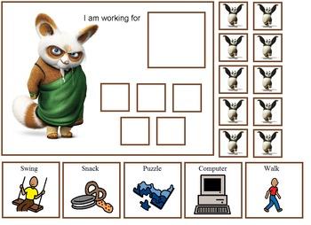 Autism:  Kung Fu Panda Token Boards