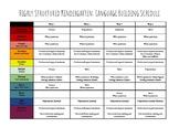 Autism Language Building Unit Schedule