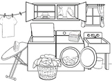 Autism:  Laundry Room Follow Direction Worksheet