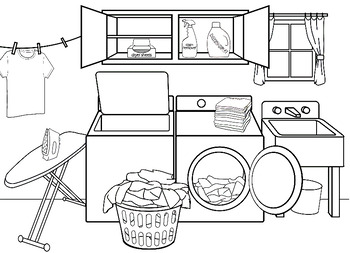 Autism Laundry Room Follow Direction Worksheet