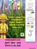 Autism Lesson Plan Printables Autism Support & Special Ed.