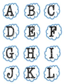 Autism Upper Case Letter Matching File Folder
