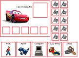Autism:  Lightening McQueen and Mator Token Boards
