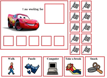 Autism:  Lightening McQueen and Mator Token Boards